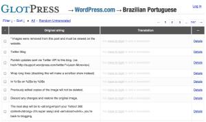 WordPress.com ポルトガル語編集画面