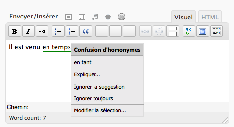 Proofread your French