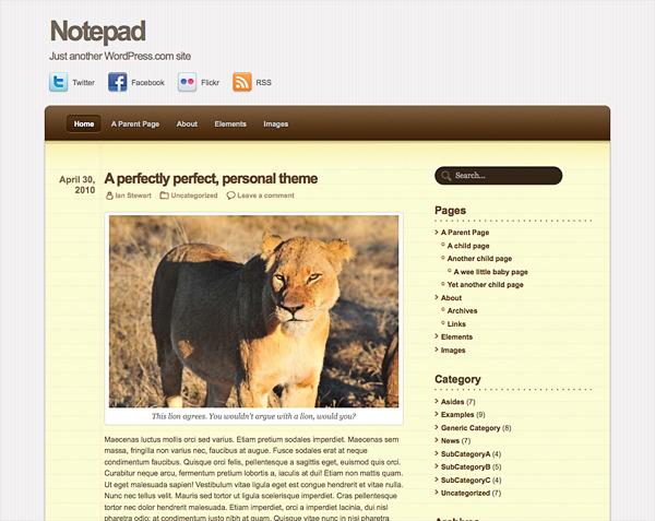 New Theme: Notepad — The WordPress.com Blog
