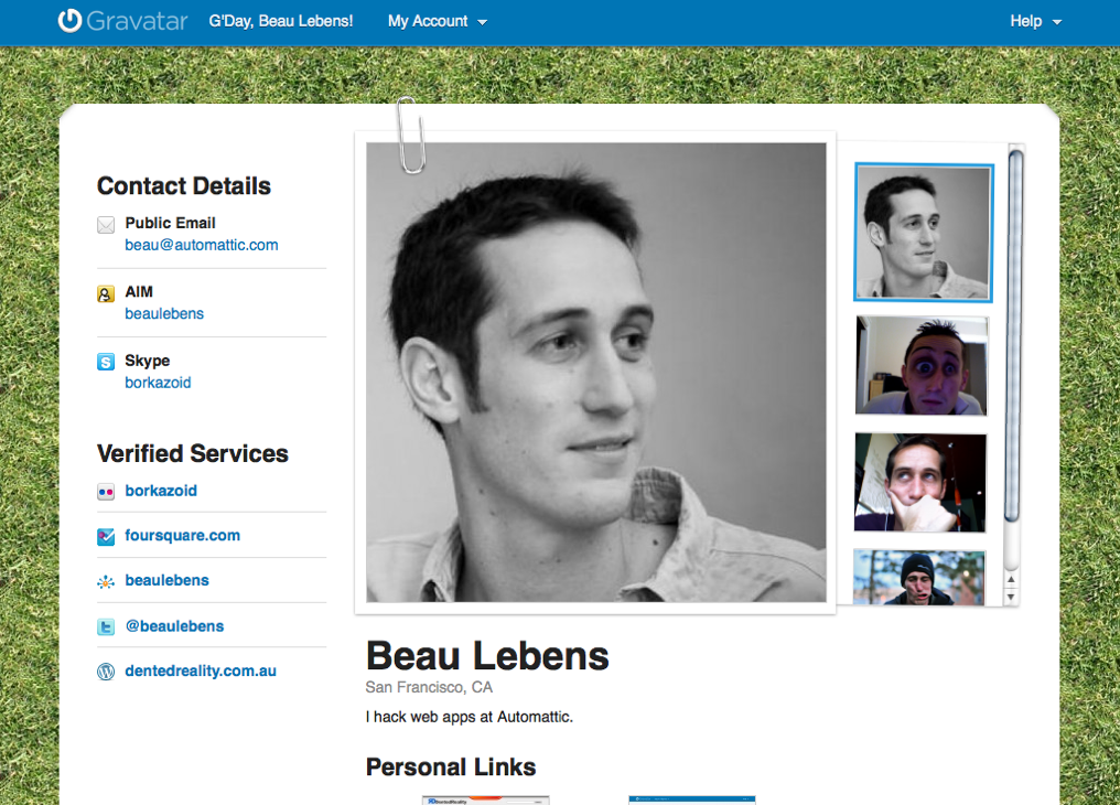 your public profile the wordpress com blog