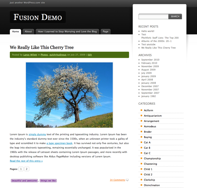 New Theme: Fusion — The WordPress com Blog