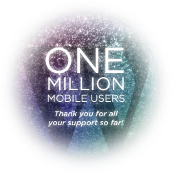 WordPress now has 1 Million mobile users - Thank you for all your support so far!