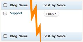 Screenshot: enabling post by voice