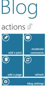 Screenshot: Action view