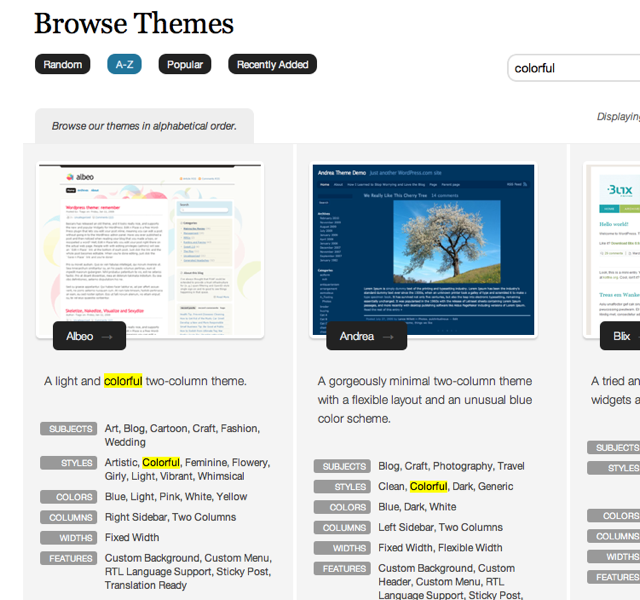 Find the Perfect Theme for Your Blog — The WordPress.com Blog