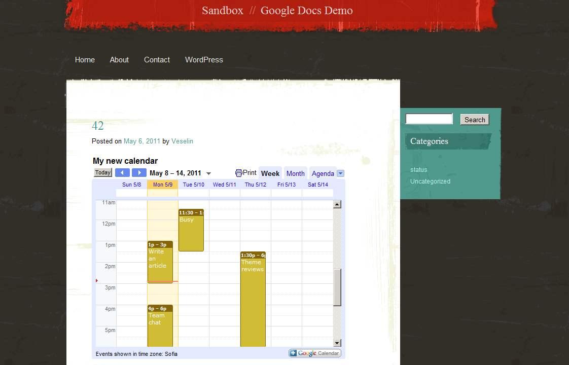 Now Share Google Docs And Google Calendars The WordPresscom Blog - When was google docs created