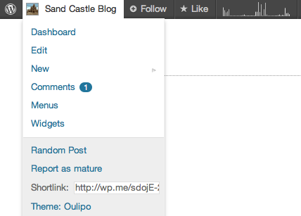 Enjoy A Shiny New, Simplified Admin Bar — The WordPress com Blog