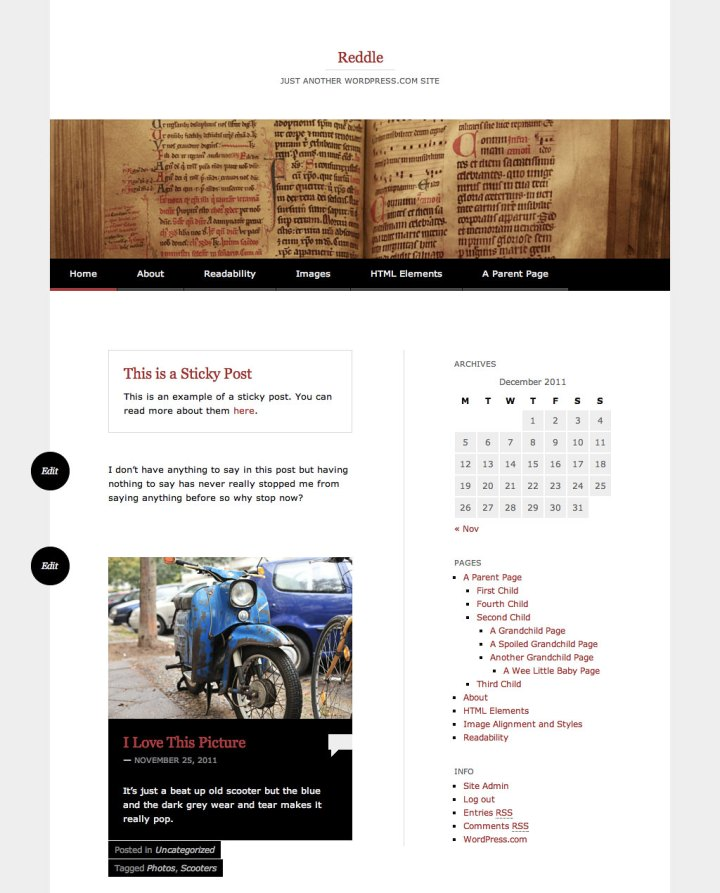 Reddle Home Page