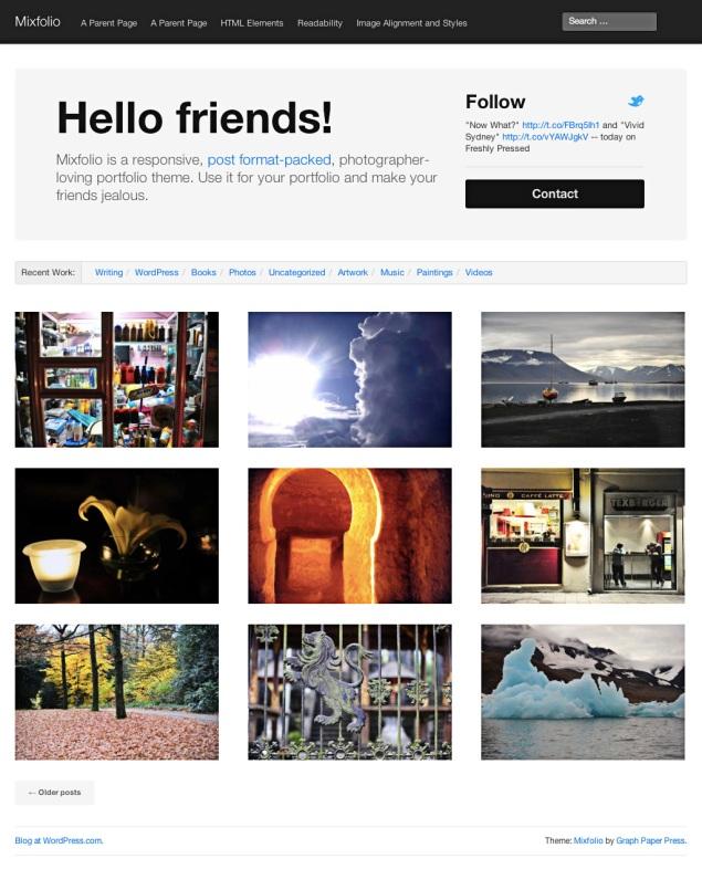 Mixfolio: Home Page