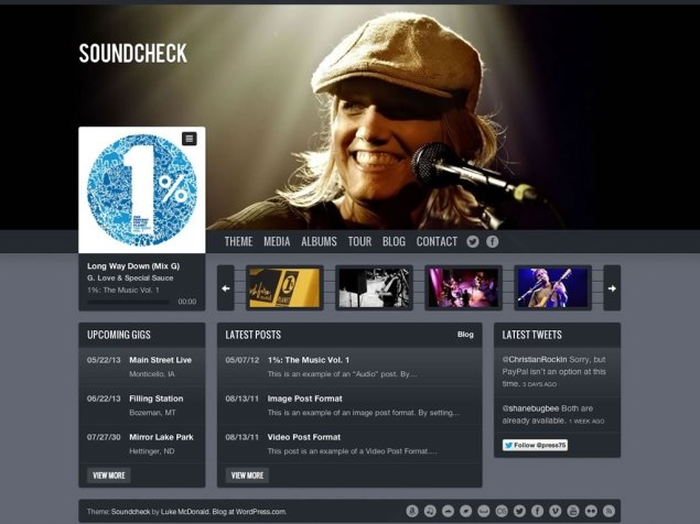 Soundcheck: Home Page
