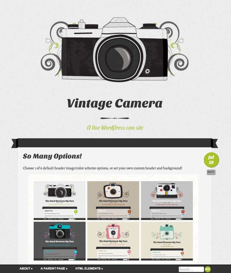 Vintage Camera テーマのスクリーンショット
