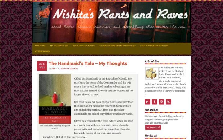 Nishita's Rants and Raves