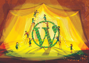 WordPress holiday illustration