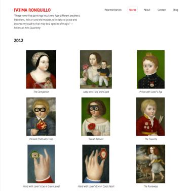 Fatima Ronquillo 2012 Paintings