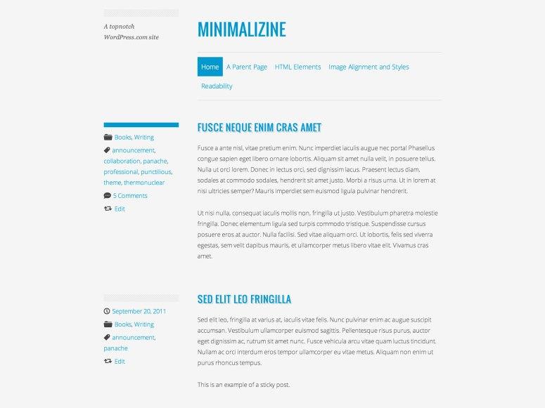 Minimalizine