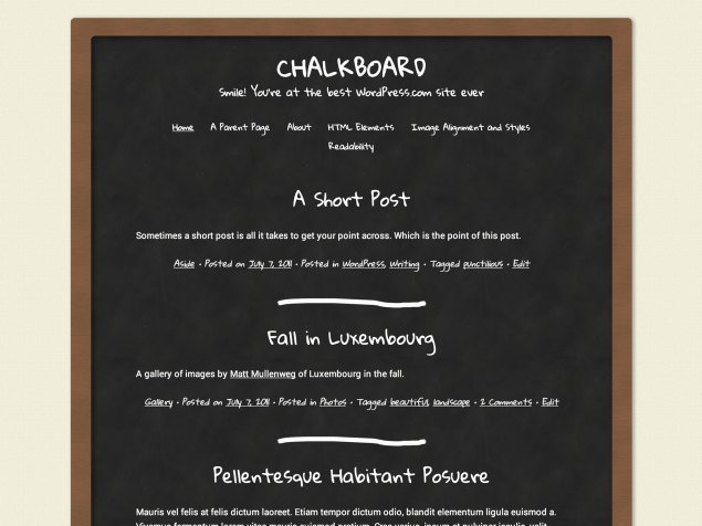 New Theme: Chalkboard