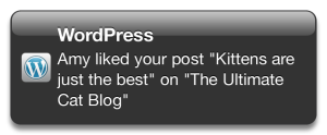 Example of a Like Push Notification
