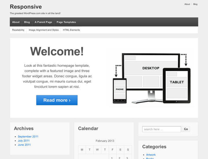 Responsive: Home Template