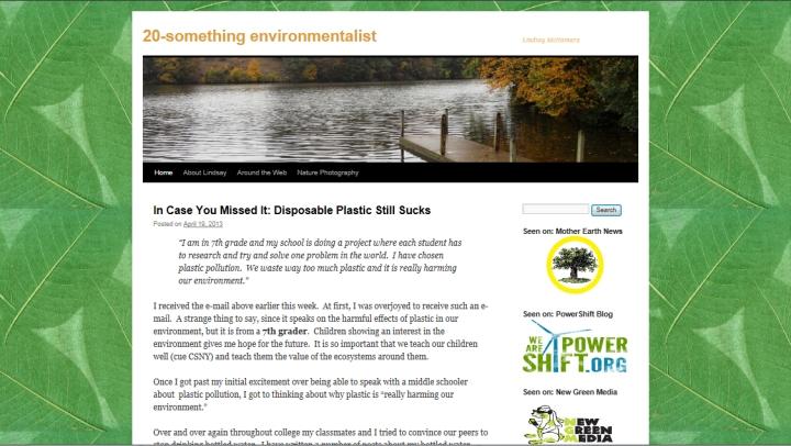 20-something environmentalist