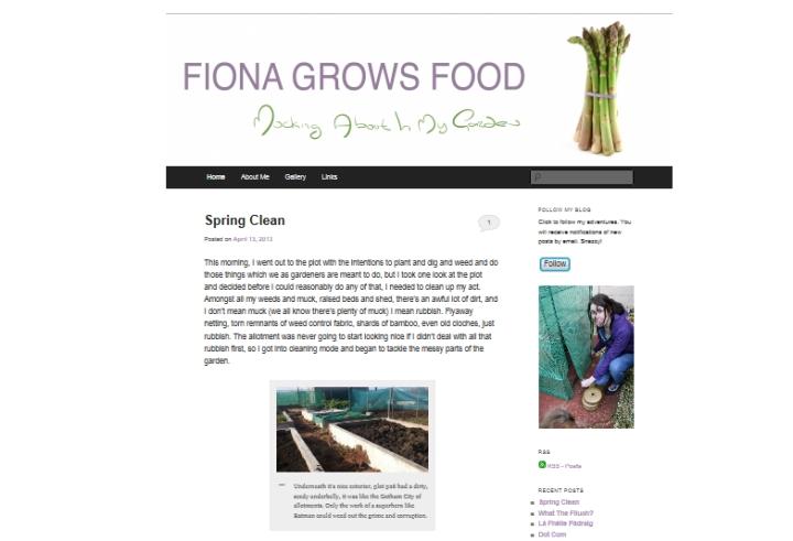 Fiona Grows Food