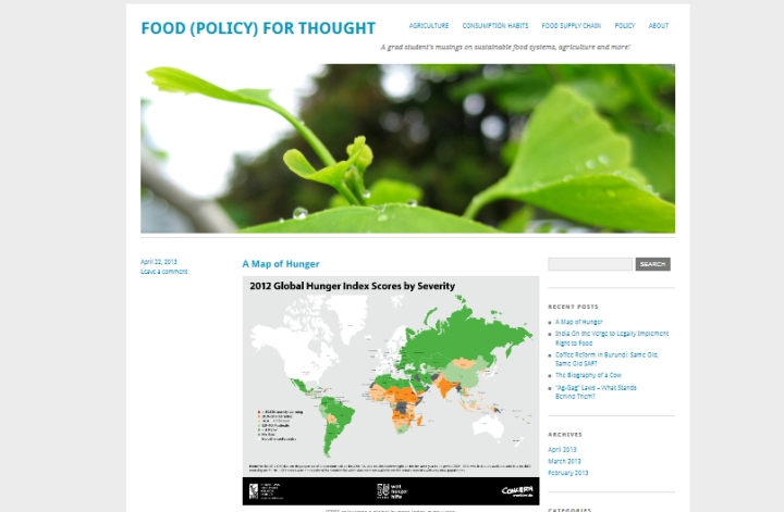 Food (Policy) for Thought
