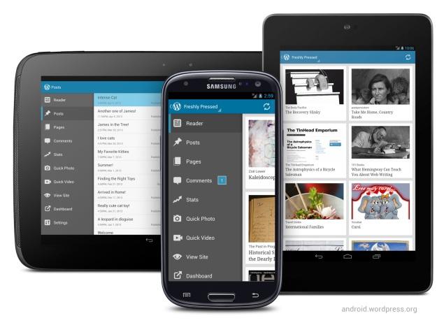 WordPress for Android 2.3: 大幅なインターフェースの更新