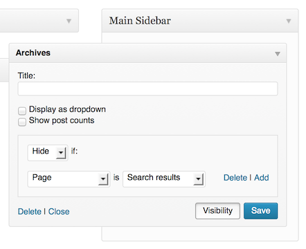 Widget Visibility and You — The WordPress com Blog