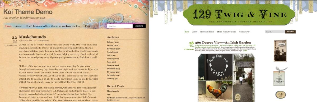 Customizing Koi: 129 Twig & Vine