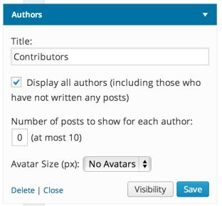 Authors Widget