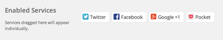 Enabled Sharing Buttons