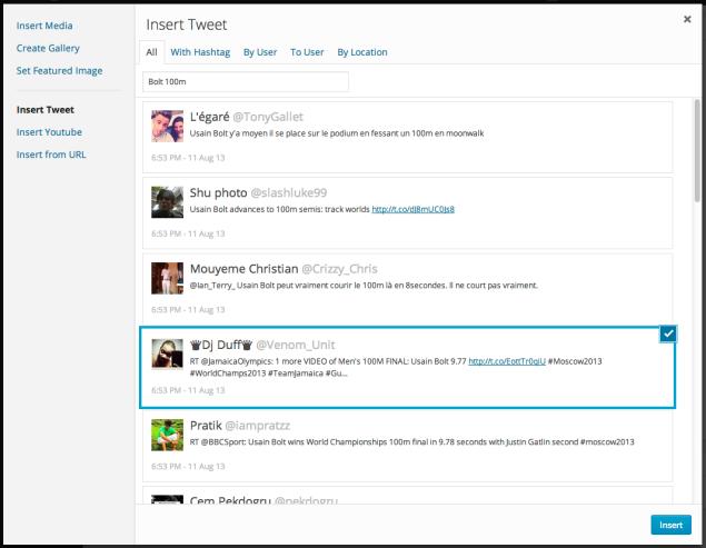 Insert Tweet
