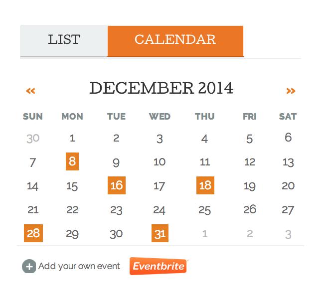 blog events calendar widget