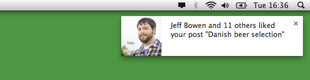 Push messaging for WordPress.com as seen in the Chrome extension.