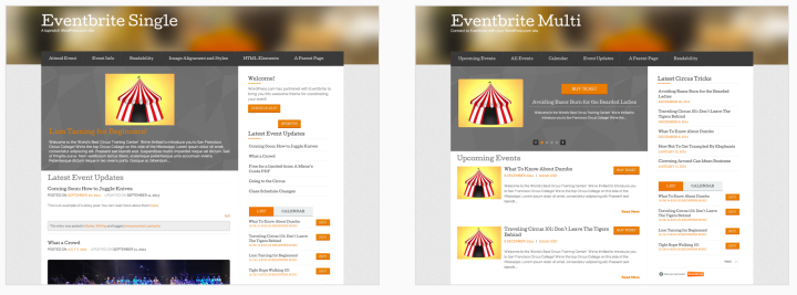 Eventbrite themes