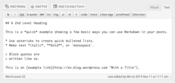 Write More Effortlessly With Markdown The Wordpress Blog
