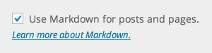 Markdown Settings Example