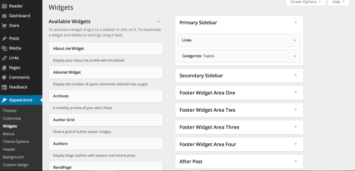 The updated widgets screen makes it even easier to select and manage your widgets.