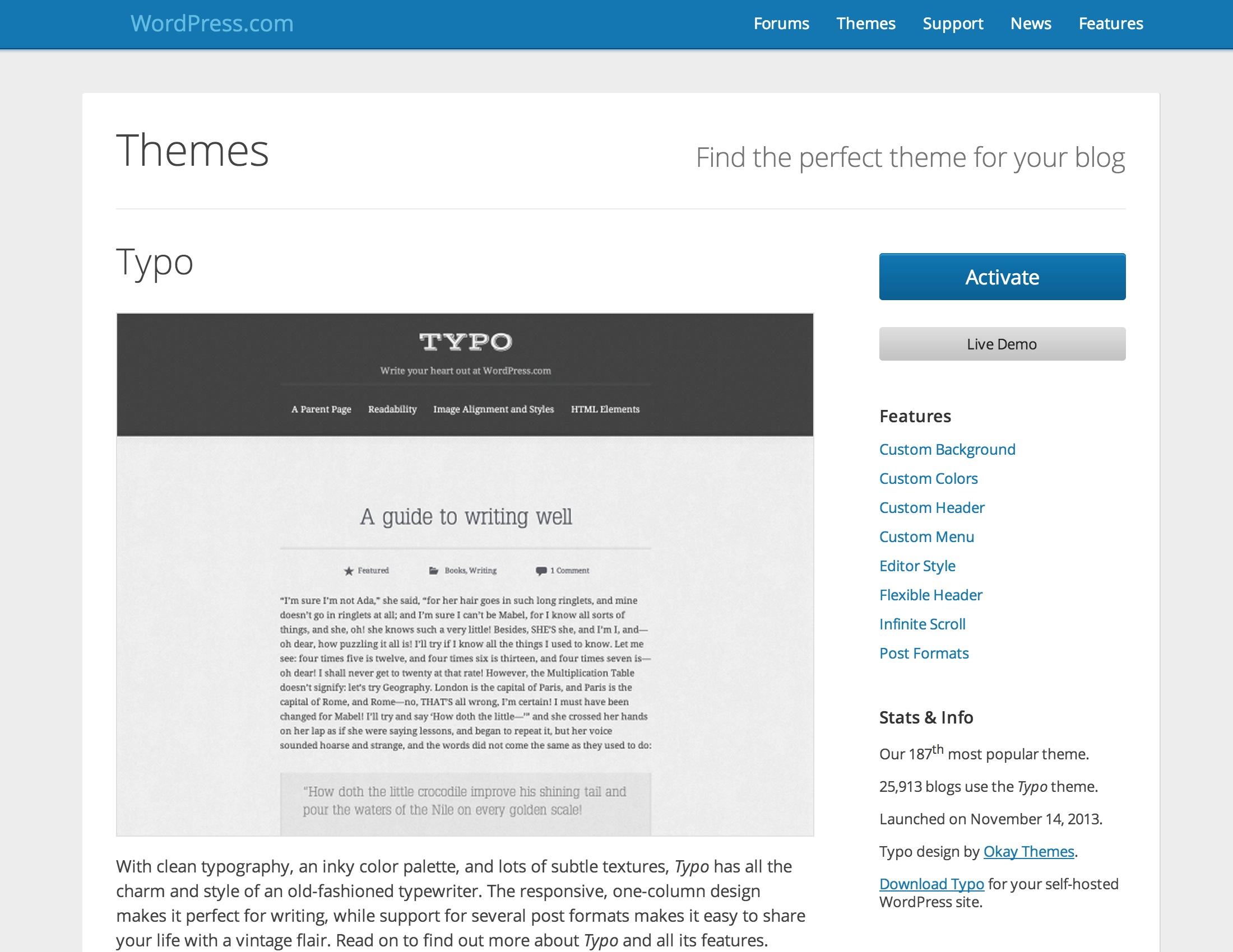 show yourself off in 2014 profiles portfolios and personal pittsburgh pennsylvania based writer stewart o nan realized this when he chose typo for his site where fans can learn about his books short stories