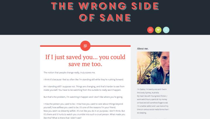 wrong side of sane