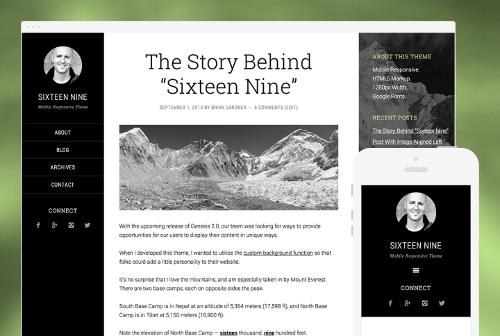 Sixteen Nine by StudioPress