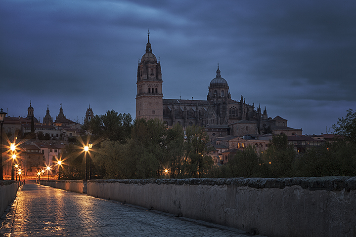 Salamanca, just before sunrise.