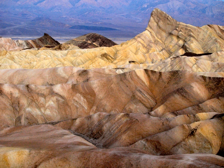 Image of Zabriskie Point, Death Valley, CA, by Travels with the Blonde Coyote.