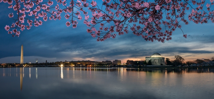 Daybreak over Washington, D.C..