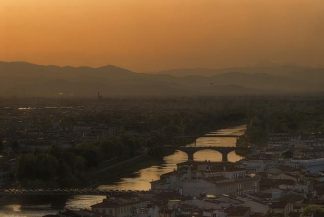 The River Arno, Florence, Italy.
