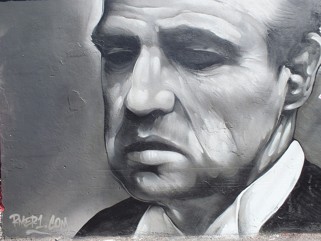 Marlon Brando by the artist Rmer Photo by DIFF GRAFF