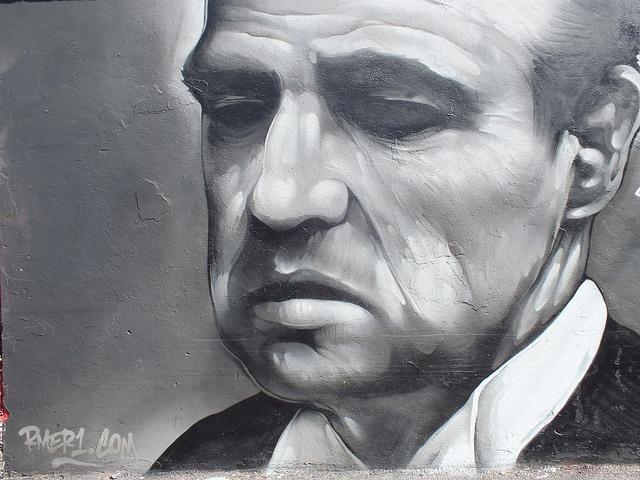 Marlon Brando by the artist Rmer Photo by DIFF GRAFF