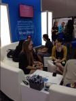 Bloggers talking blogging at BlogHer.