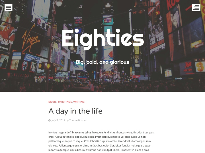 Eighties WordPress Theme