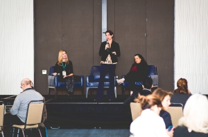 The BlogHer team on stage. Image by Jen Hooks
