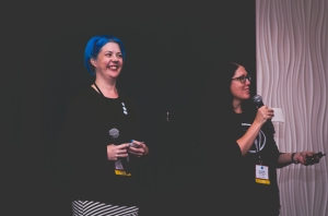 Happiness engineers Deborah Beckett and Carolyn Sonnek. Image by Jen Hooks